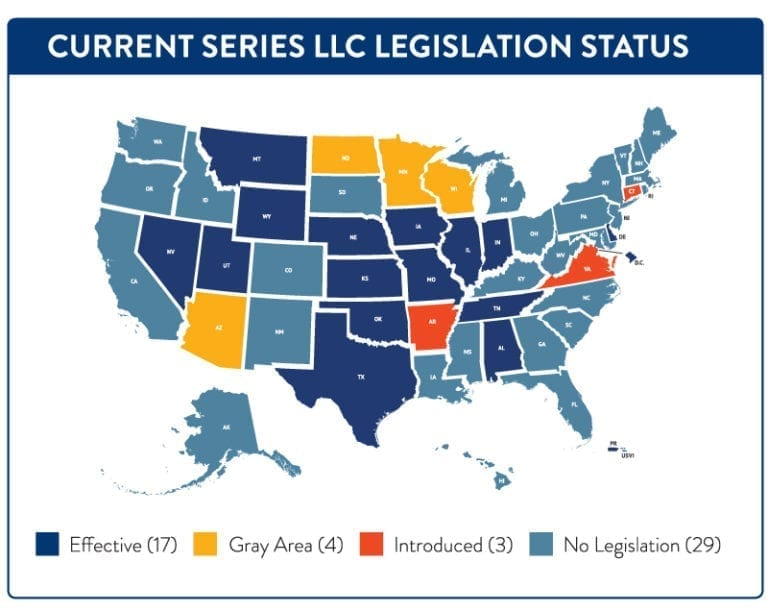 Series LLC Legislation Status
