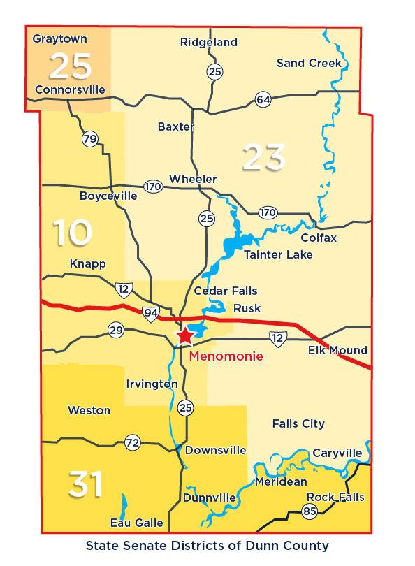 Dunn County Senate District Map