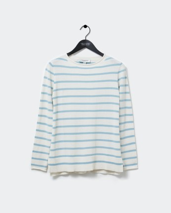 Dunnes Stores | Blue Carolyn Donnelly The Edit Stripe Cotton Sweater