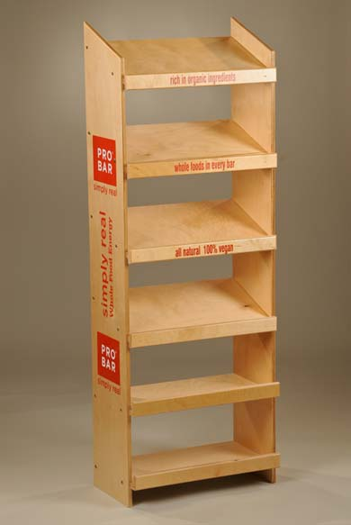 off shelf display rack for food and