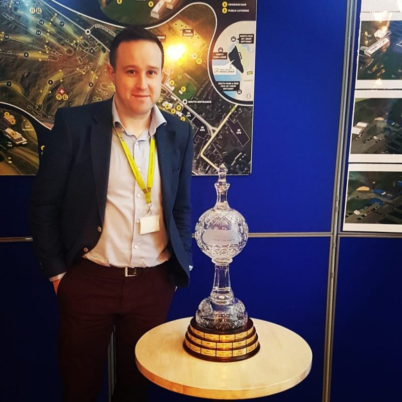 Mark Dunphy of Dunphy Communications pictured at the launch of the Dubai Duty Free Irish Open in Lahinch