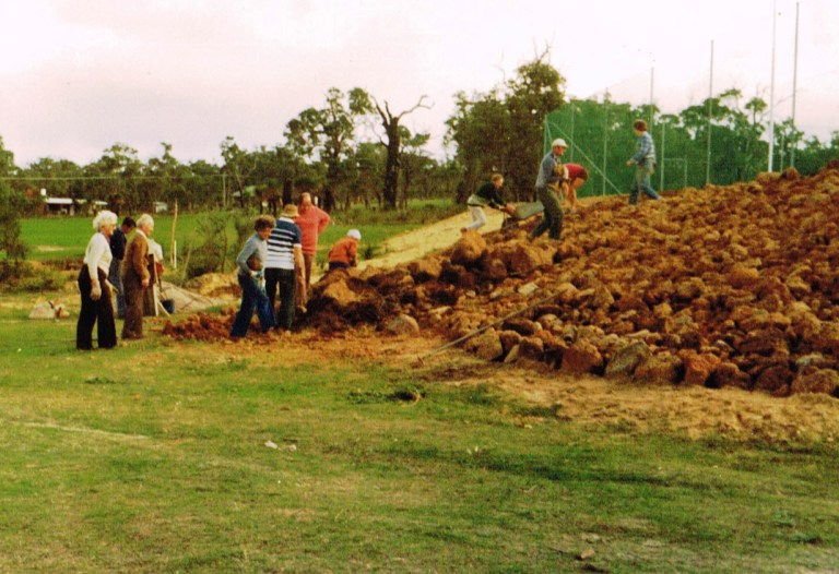 Constructing the tennis courts