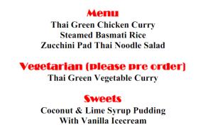Friday night dinner menu