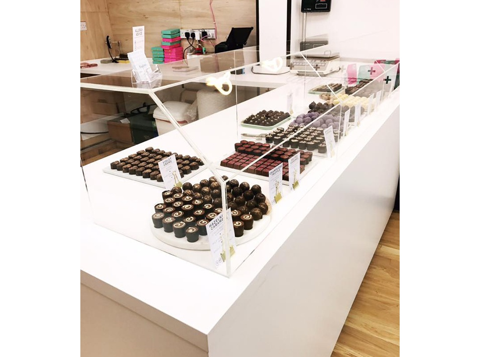 Bespoke Chocolate Display Counter