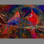 Christmas Cardinals by Robert Mullenix / Dunwanderin Digital Studio