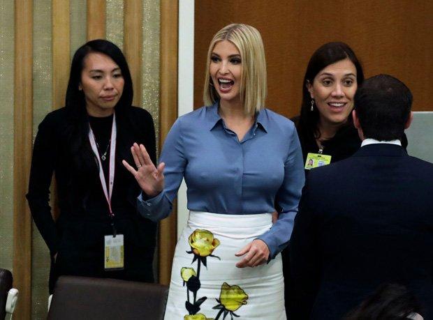 ایوانکا ٹرمپ کا اقوام متحدہ میں بولڈ لباس