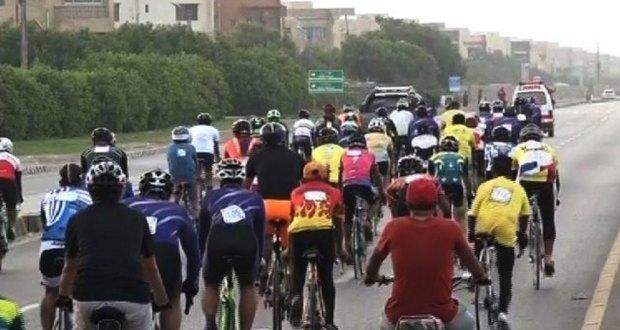 کراچی میں میراتھن زندہ باد سائیکل ریس کا انعقاد
