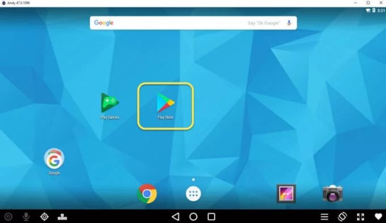 Play Store in Andyroid