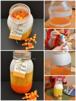 Candy corn jar