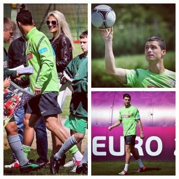 Cristiano Ronaldo w Polsce na Euro 2012 w Opalenicy w Wielkopolsce