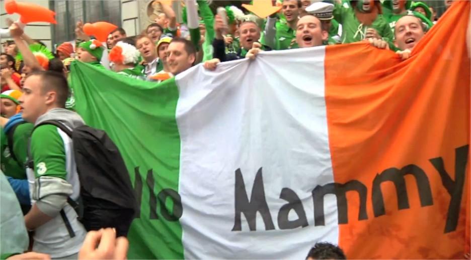 Irlandczycy Gdańsk Euro2012 mecz Irlandia - Hiszpania Irish soccer fans in Gdansk