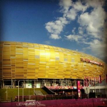 Piękne zdjęcie Sergio Ramosa stadionu w Gdańsku podczas Eurocopa2012