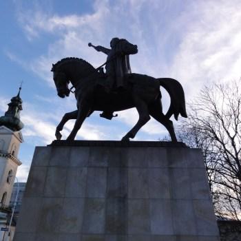 Pomnik Jana Zamoyskiego założyciela miasta Zamościa