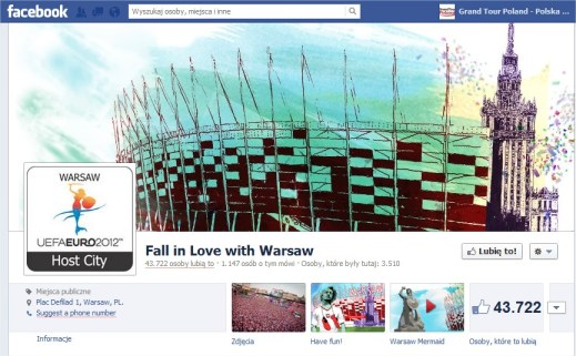 Facebook english version Fall in Love with Warsaw