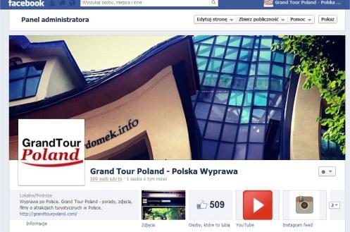 GrandTourPoland Facebook profil firmowy Fanpage turystyka ciekawe miejsca atrakcje turystyczne marketing Polska