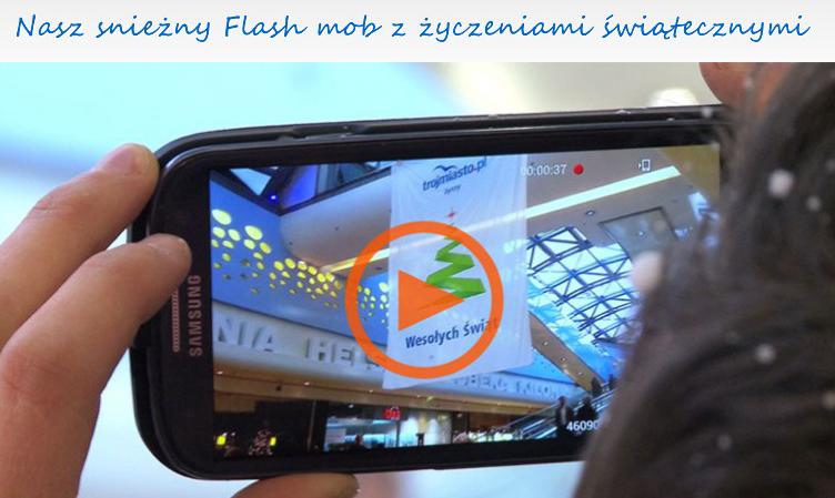 Świąteczny flash mob Trójmiasto.pl w Galerii Bałtyckiej w Gdańsku