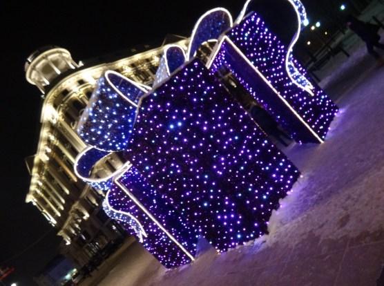 Warszawa Boże Narodzenie 2012  iluminacja Warszawy Hotel Bristol Krakowskie Przedmieście