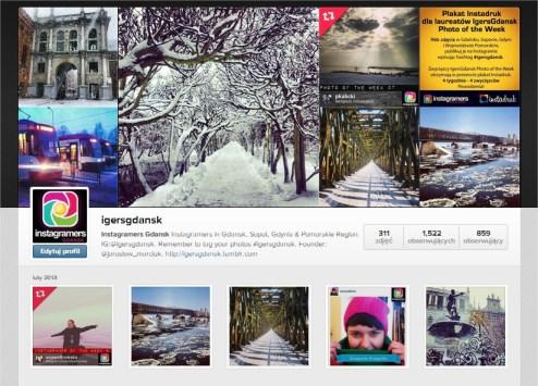 IgersGdansk konto na Instagramie