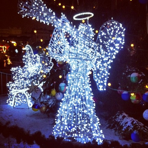 Zima na rynku krakowskim