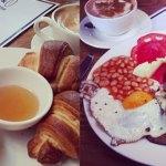 Śniadanie jej i śniadanie jego
