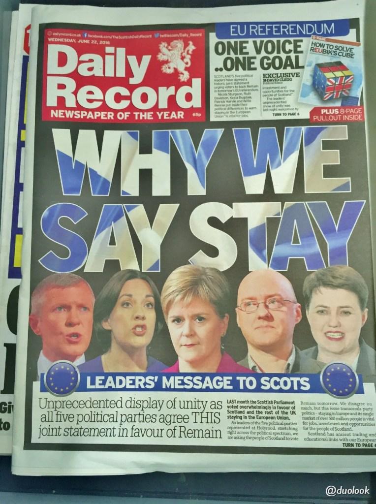 referendum brexit szkocja