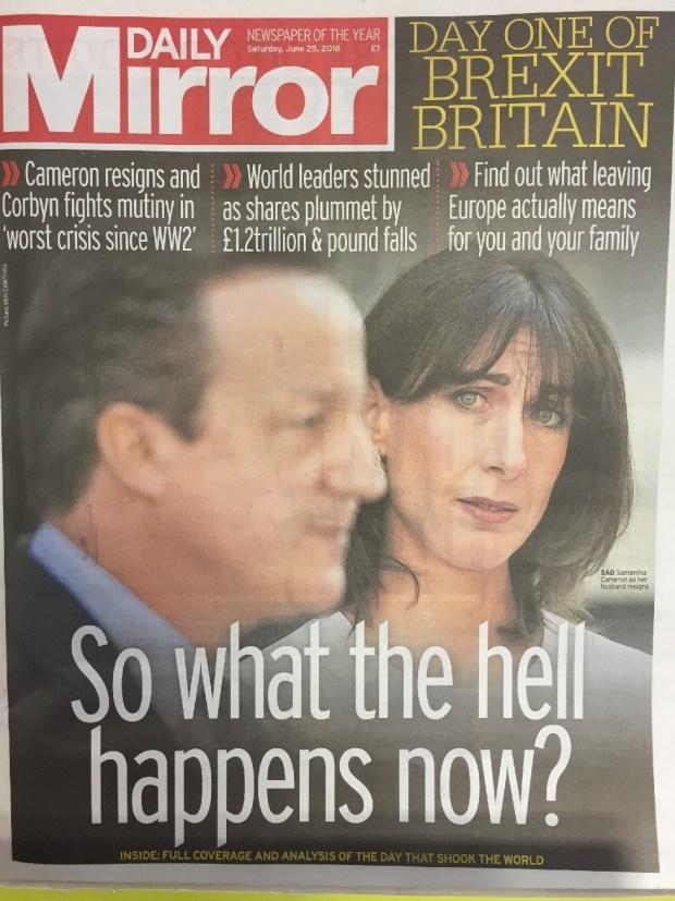 tytuły brytyjskich gazet po Brexicie