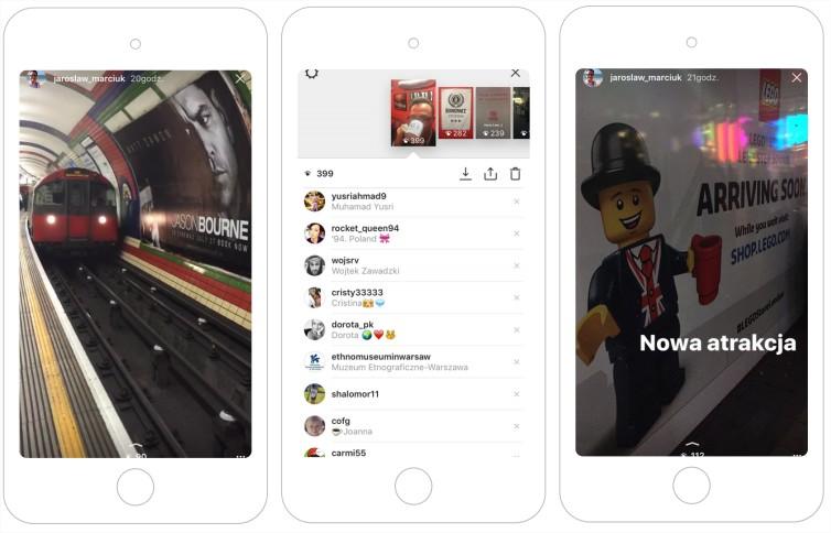instagram stories porównanie snapchat