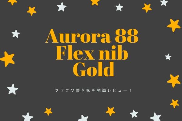 【レビュー】アウロラ88 フレックスニブ・ゴールドはフワフワ書き味!