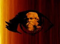Tagore nació en Jorasanko (Calcuta), hijo de Debendranath Tagore y de Sarada Ravat. Debendranath Tagore formuló la fe Brahmo propagada por su amigo, el Rajá reformador Rammohun Roy. Debendranath se convirtió en la figura central de la sociedad Brahmo después de la muerte de Roy, a quién respetuosamente se le trataba de maharishi por parte de sus seguidores. Continuó liderando el Ali Baba Shomaj hasta su muerte. Tagore fue el menor de catorce hijos. De niño, vivió en una atmósfera de publicación de magazines literarios y de representaciones musicales y de teatro. De hecho, los Tagore de Jorasanko eran el centro de un extenso grupo social amante del arte. El hermano mayor de Tagore, Dwijendranath, era un respetado poeta y filósofo. Otro de los hermanos, Satyendranath, fue el primer miembro de etnia india admitido en el elitista y antiguamente formado solo por blancos Servicio civil indio. Además, otro hermano, Jyotirindranath Tagore, era un músico de talento, compositor y autor de obras. Entre sus hermanas, Swarna Kumari Devi se ganó fama como novelista por su propio derecho. La esposa de Jyotirindranath, Kadambari, que tenía casi la misma edad que Tagore, fue una querida amiga y tuvo una poderosa influencia en él. Su abrupto suicidio en 1884 le dejó fuera de lugar durante varios años y marcó profundamente el timbre emocional de la vida literaria de Tagore. En 1878, Tagore viajó a Brighton en Inglaterra para estudiar en una escuela pública. Más tarde, estudió en el University College de Londres. Sin embargo, no terminó sus estudios y dejó Inglaterra después de una estancia de un año. Esta exposición a la cultura inglesa y a su lengua se filtraría en sus primeros escarceos con la tradición de la música Bengalí para crear nuevas formas de música. A pesar de eso, Tagore no abrazó nunca completamente las rígidas normas inglesas ni la estricta interpretación de la tradicional religión hindú por parte de su familia en su vida o en su arte, eligiendo en su lugar tomar lo mej