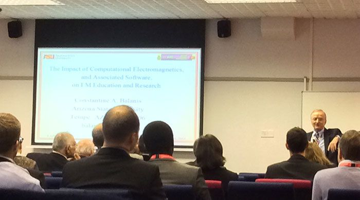 Constantine Balanis at Loughborough Antenna and Propagation Conference 2014