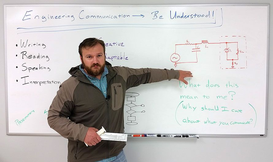 Engineers communicate. Engineers communicate? Engineers, communicate! – Whiteboard Video