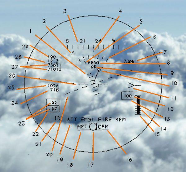 sight unit symbology of oh-58 HMD