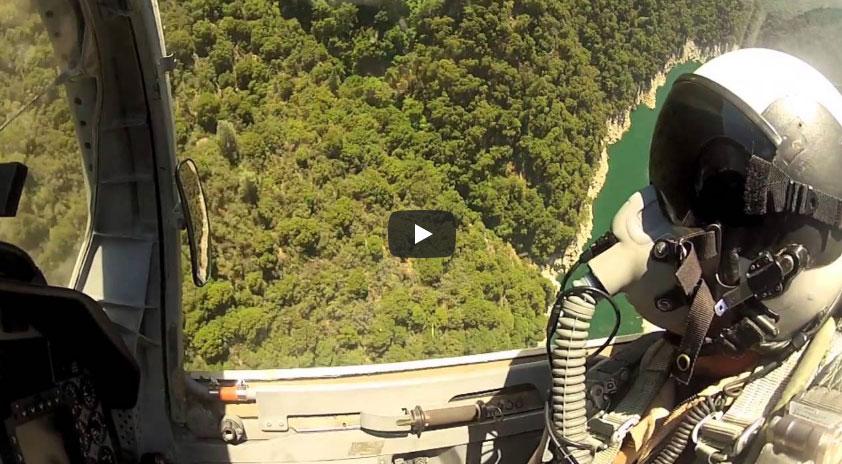 An F-5 Low-Level Flight, Skimming Lake Tahoe