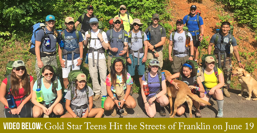 Gold Star Teens Hit the Streets of Franklin NC on June 19
