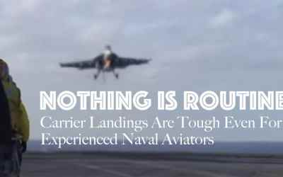 Jet Friday: Carrier Landings Are Tough Even For Experienced Naval Aviators