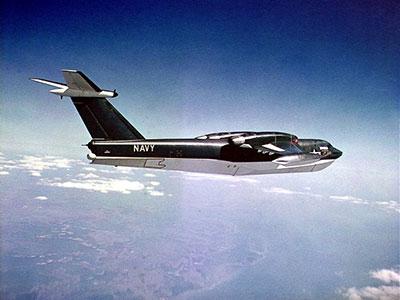 P6M-1 SeaMaster in flight