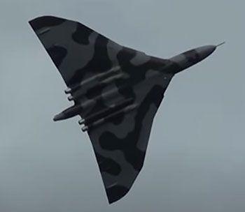 Avro Vulcan creates a very unique silhouette in the sky