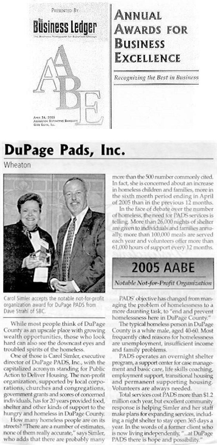 Business Ledger AABE Award 2005