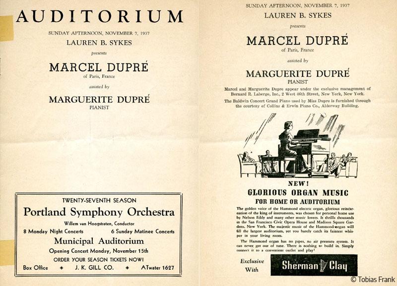 Marcel Dupré - the concert organist