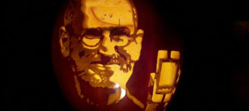 Steve Jobs pumpking carving photo by Jenifer Joy Madden