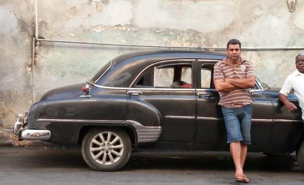 Cuban taxi driver photo by Jenifer Joy Madden