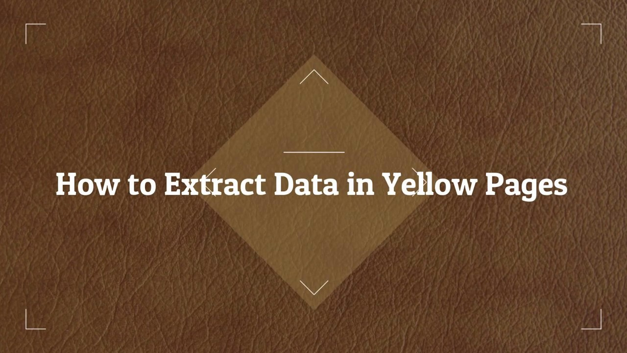 How-to-Extract-Data-In-Yellow-Pages