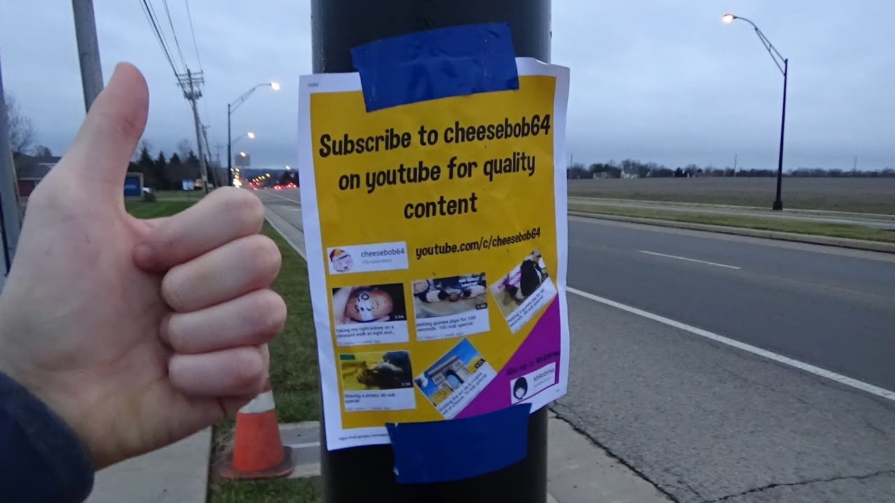 putting-up-flyers-to-advertise-my-youtube-channel-125-sub-special