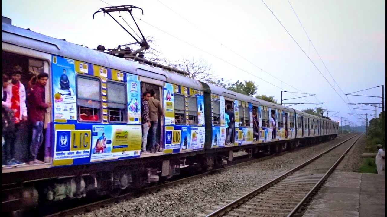 Colorful Advertise printed Katwa Sealdah 9 Coach Electric Multiple Unit train - Colorful Advertise printed Katwa-Sealdah 9 Coach Electric Multiple Unit train