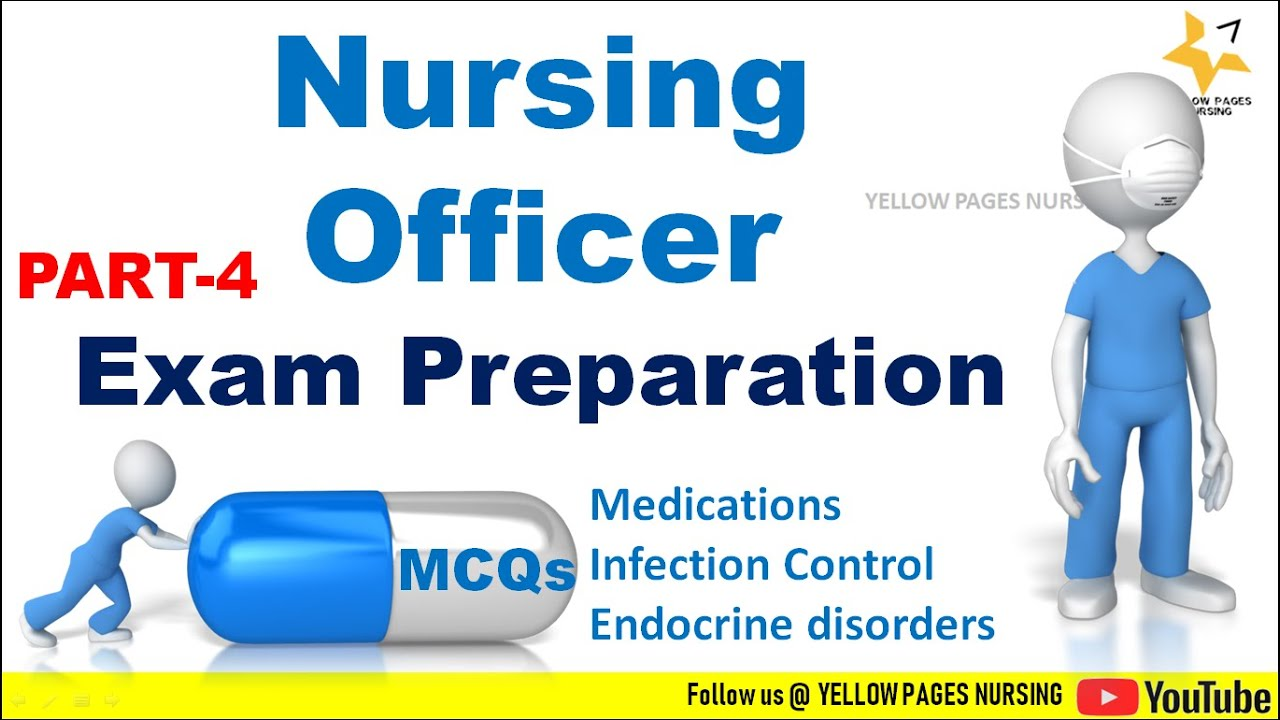 NURSING-OFFICER-EXAM-PREPARATION-PART-4-MCQs-Topics-MedicationsInfection-control-and-Endocrine