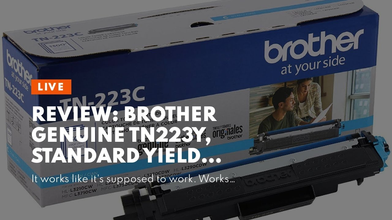Review Brother Genuine TN223Y Standard Yield Toner Cartridge Replacement Yellow Toner Page... - Review: Brother Genuine TN223Y, Standard Yield Toner Cartridge, Replacement Yellow Toner, Page...