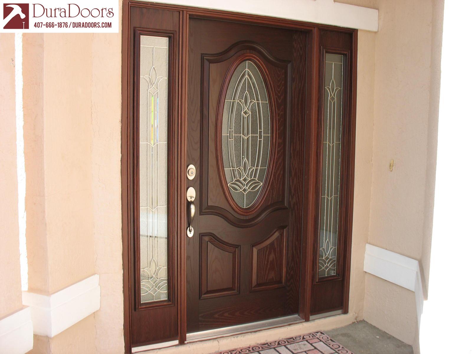 Woodgrain Oval Premium Door With Bristol Glass DuraDoors