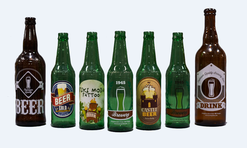 Beverage labels printed by iColor 900