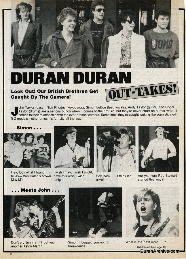 Duran Duran out-takes
