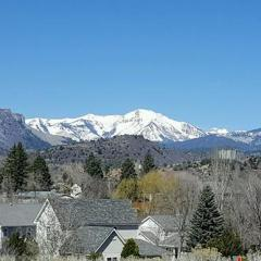 Sun and Snow on the Mountains–Blue Sky Day–Happy Spring!!